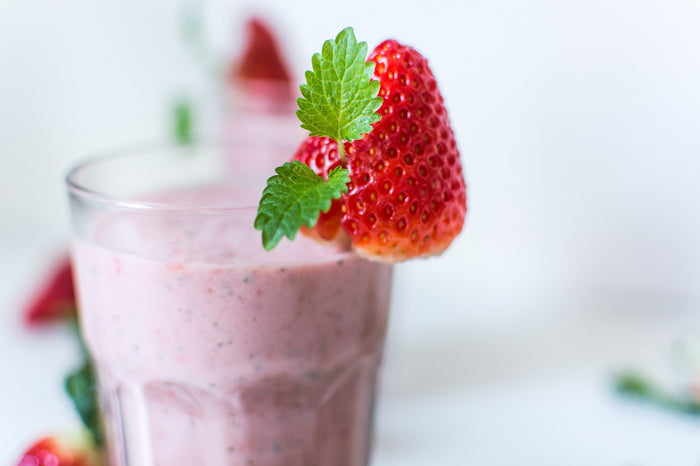 Strawberry Kefir Smoothie - Three Easy Ingredients