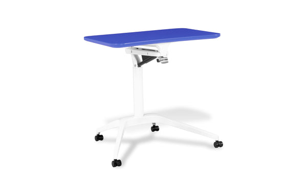 Stand Up Workpad Mobile Height Adjustable Desk 201 White Base
