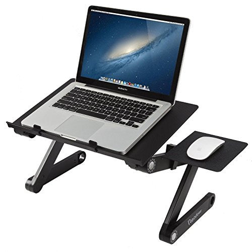 Readaeer Adjustable Foldable Laptop Stand Desk Table