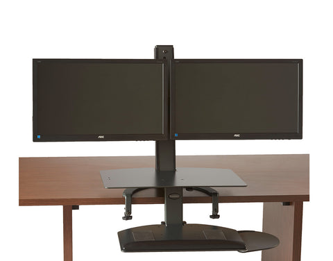 The TaskMate Go Dual Monitor Sit-Stand Desk 6351 Large Worksurface