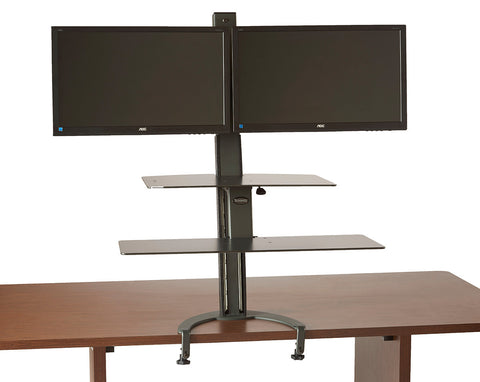 The TaskMate Go Dual Monitor Sit-Stand Desk 6352  Larger Worksurface