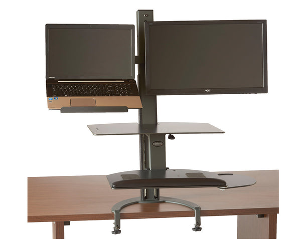 The TaskMate Go Laptop Sit-Stand Desk 6361 Large Worksurface