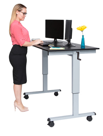Crank Adjustable Stand Up Desk  STANDCF60-AG/BO - 60″