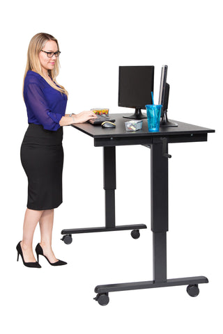 Crank Adjustable Stand Up Desk STANDCF60-BK/BO - 60″