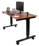 "Crank Adjustable Stand Up Desk STANDCF60""-BK/TK"
