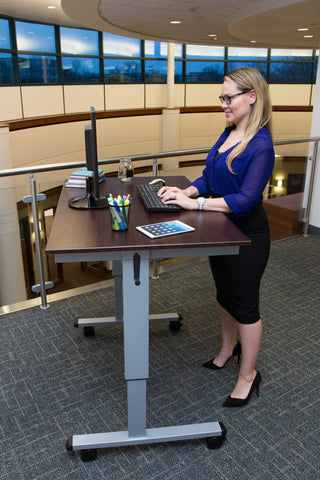 Mobile Crank Adjustable Stand Up Office Desk STANDUPCF48DW48
