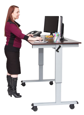Crank Adjustable Stand Up Desk STANDUP-CF60-DW - 60″