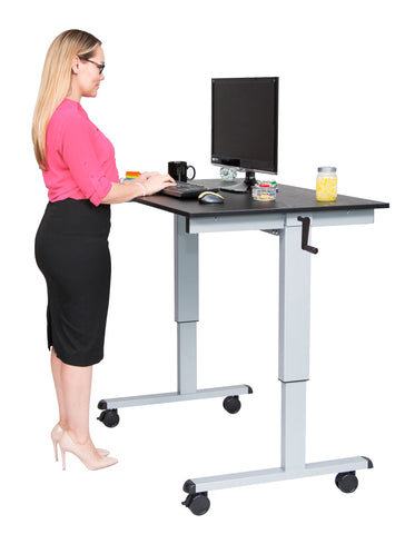 Crank Adjustable Stand Up Desk STANDCF48-AG/BO - 48″