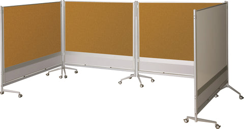Office Room Whiteboard Mobile Wheel Aluminum Divider Partitions 661