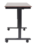 "Electric Height Adjustable Mobile Standing Desk STANDE-48""-BK/DW"