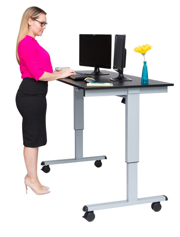 "Electric Moibile Standing Desk STANDE-60""AG/BO"