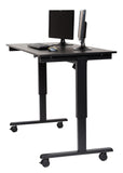 Electric Height Adjustable Mobile  Standing Desk STANDE-60-BK/BO
