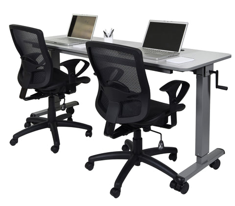 Height Adjustable Flip Top Table Mobile Desk STAND-NESTC-72""