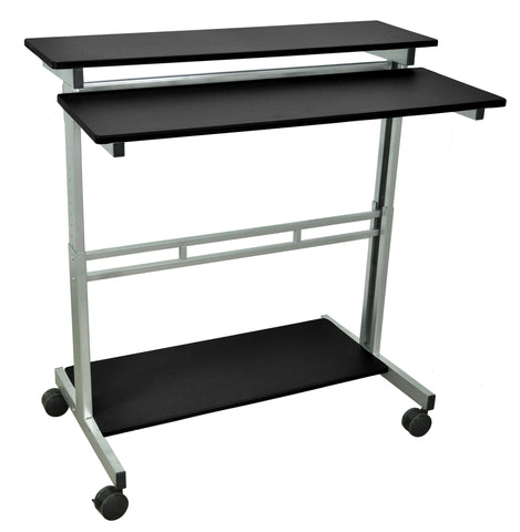 "Height Adjustable Rolling Standing Workstation STANDUP-40""-B"