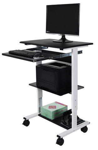Height Adjustable Three-shelf Stand Up Workstation STAND-WS30