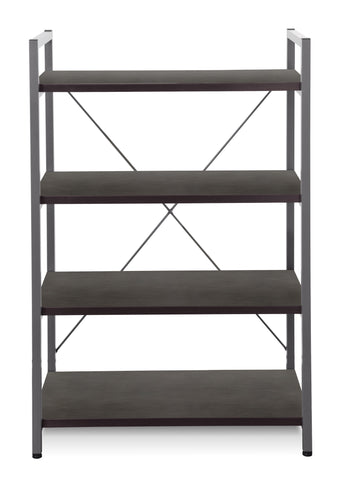 4 Shelves Metal Frame Bookcase 213 Non-Scratch Surface
