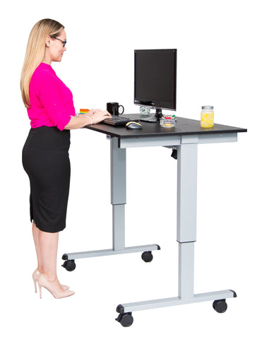 Electric Height Adjustable Mobile Standing Desk STANDE-48″