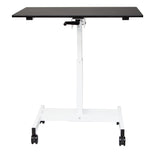 "Single Column Mobile Crank Stand Up Desk STANDUP-SC40""-WB"