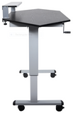 "Standing Height Adjustable Mobile Corner Desk STANDUP-CCF60""-B"