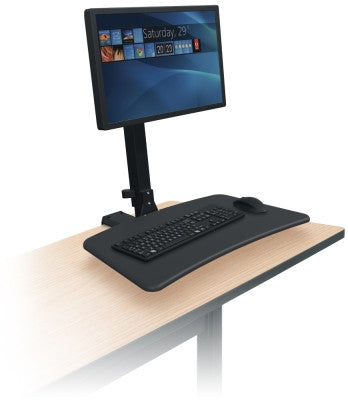 Sit-Stand Single Monitor Workstation Rear Mount blt91113