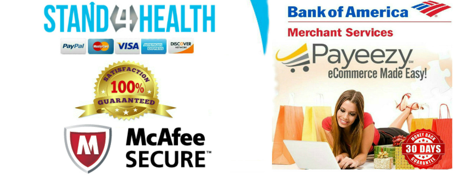 The stand 4health payment gateway partners _ Bank of America & the First Data powered Payeezy API gateway