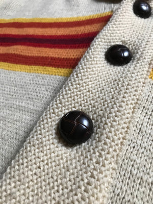 1970's Large Navajo Shawl Cardigan Cowichan Sweater by Pendleton