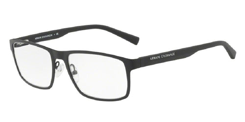 7pm view of Exchange Armani Eyeglasses - FUN ABOUT TOWN AX1024 6000 54 BLACK CLEAR DEMO LENS Men's Rectangle