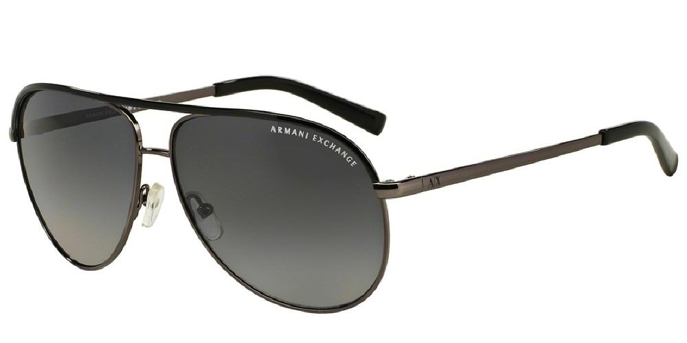 7pm view of Armani Exchange Sunglasses - FOREVER YOUNG AVIATOR AX2002 6006T3 61 POLARIZED GRADIENT GUNMETAL BLACK GREY Men's / Women's Full Rim