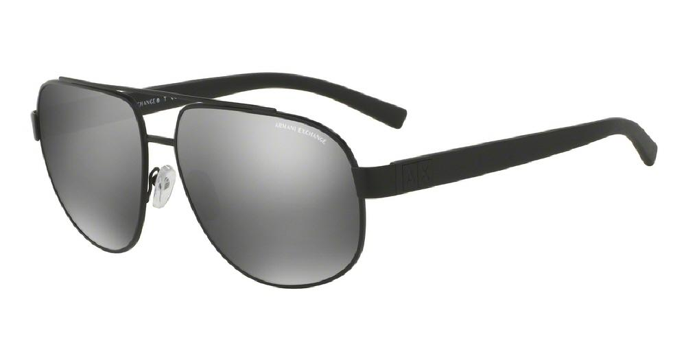 7pm view of Armani Exchange Sunglasses - FOREVER YOUNG AVIATOR AX2019S 60636G 60 MIRROR MATTE BLACK SILVER Men's Full Rim