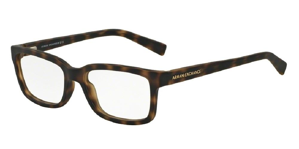 7pm view of Armani Exchange Eyeglasses - FOREVER YOUNG AX3022F 8029 55 MATTE HAVANA TORTOISE CLEAR DEMO LENS Men's Rectangle Full Rim