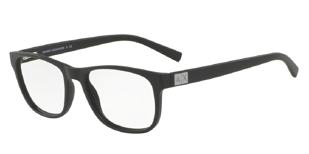 7pm view of Armani Exchange Eyeglasses - FOREVER YOUNG AX3034F 8078 54 MATTE BLACK CLEAR DEMO LENS Men's Square Full Rim
