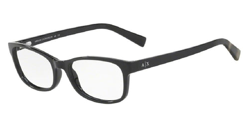 7pm view of Exchange Armani Eyeglasses - FUN ABOUT TOWN AX3043 8225 53 BLACK CLEAR DEMO LENS Women's Rectangle