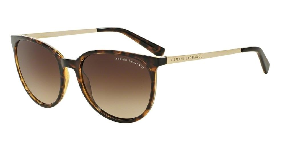 7pm view of Armani Exchange Sunglasses - FOREVER YOUNG AX4048S 803713 56 GRADIENT HAVANA TORTOISE BROWN Women's Round Full Rim