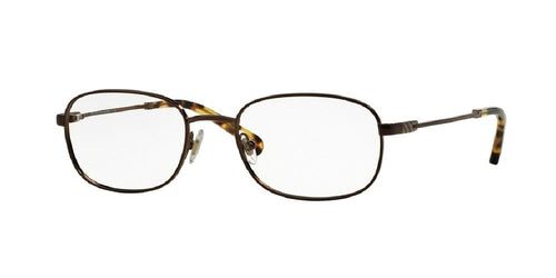 7pm view of Brooks Brothers Eyeglasses - CLASSIC (BB) BB1014 1571 50 BRONZE CLEAR DEMO LENS Men's Rectangle Full Rim