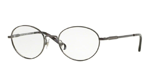7pm view of Brooks Brothers Eyeglasses - CLASSIC (BB) ROUND BB1032 1630 48 BRUSHED GUNMETAL CLEAR DEMO LENS Men's Full Rim