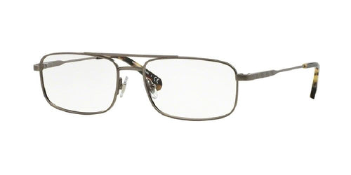 7pm view of Brooks Brothers Eyeglasses - MODERN (BB) AVIATOR BB1033 1515 55 MATTE LIGHT GUNMETAL CLEAR DEMO LENS Men's Full Rim