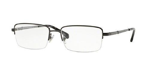 7pm view of Brooks Brothers Eyeglasses - CLASSIC (BB) BB1035 1630 53 BRUSHED GUNMETAL CLEAR DEMO LENS Men's Rectangle Semi Rim