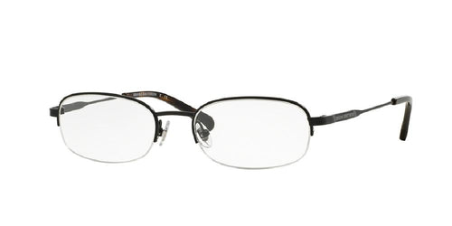 7pm view of Brooks Brothers Eyeglasses - CLASSIC (BB) BB1039T 1500T 54 BLACK CLEAR DEMO LENS Men's Oval Semi Rim