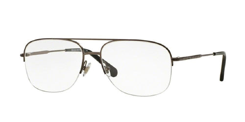 7pm view of Brooks Brothers Eyeglasses - CLASSIC (BB) AVIATOR BB1041 1150 55 GUNMETAL CLEAR DEMO LENS Men's Semi Rim