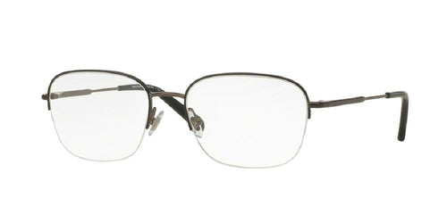 7pm view of Brooks Brothers Eyeglasses - CLASSIC (BB) BB1043 1150 54 GUNMETAL BLACK CLEAR DEMO LENS Men's Square Semi Rim