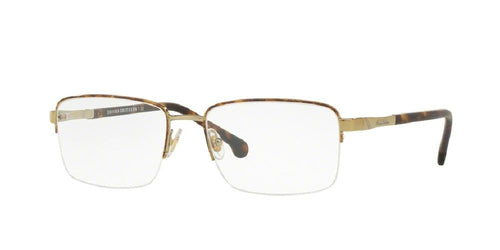 7pm view of Brooks Brothers Eyeglasses - CLASSIC (BB) BB1044 1001 54 GOLD CLEAR DEMO LENS Men's Rectangle Semi Rim