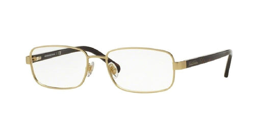 7pm view of Brooks Brothers Eyeglasses - MODERN (BB) BB1045 1669 53 GOLD DARK HAVANA TORTOISE CLEAR DEMO LENS Men's Rectangle Full Rim