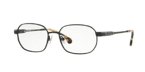 7pm view of Brooks Brothers Eyeglasses - CLASSIC (BB) BB1049 1154 52 MATTE BLACK CLEAR DEMO LENS Men's Oval Full Rim