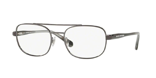 7pm view of Brooks Brothers Eyeglasses - FUN ABOUT TOWN AVIATOR BB1050 1676 53 GUNMETAL GREY HORN CLEAR DEMO LENS Men's Full Rim