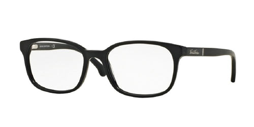 7pm view of Brooks Brothers Eyeglasses - CLASSIC (BB) BB2028 6095 54 MATTE BLACK CLEAR DEMO LENS Men's Oval Full Rim
