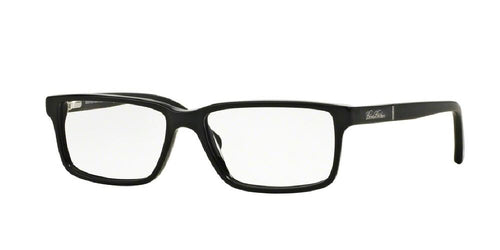 7pm view of Brooks Brothers Eyeglasses - CLASSIC (BB) BB2029 6095 53 MATTE BLACK CLEAR DEMO LENS Men's Rectangle Full Rim