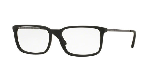 7pm view of Brooks Brothers Eyeglasses - CLASSIC (BB) BB2030 6105 53 MATTE BLACK GUNMETAL CLEAR DEMO LENS Men's Rectangle Full Rim