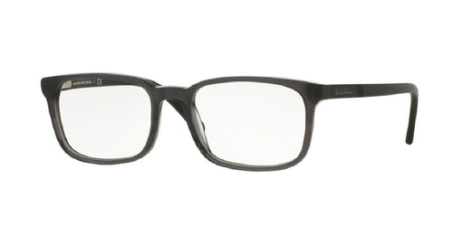 7pm view of Brooks Brothers Eyeglasses - MODERN (BB) BB2031 6109 52 LIGHT GREY MATTE BLACK CLEAR DEMO LENS Men's Rectangle Full Rim