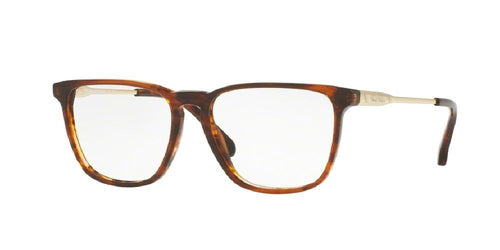 7pm view of Brooks Brothers Eyeglasses - MODERN (BB) BB2034 6102 52 BROWN HORN GOLD CLEAR DEMO LENS Men's Square Full Rim
