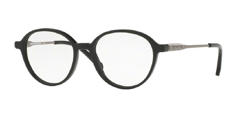 7pm view of Brooks Brothers Eyeglasses - MODERN (BB) BB2035 6101 49 BLACK GUNMETAL CLEAR DEMO LENS Men's Round Full Rim